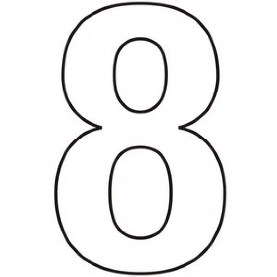 Number 8 Clipart Black And White Centurion Europ...