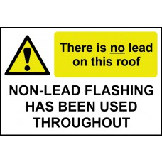 There is no lead on this roof / Non-lead flashing... - RPVC (300 x 200mm)
