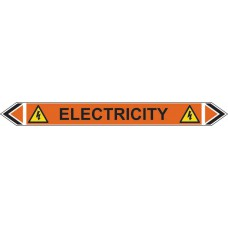 Flow Marker - Electricity (Orange - 5 pack)