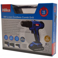 *TEMP OUT OF STOCK* Hilka 18v Li-ion Cordless Hammer Drill (PTLCHD18)