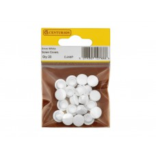 *TEMP OUT OF STOCK* White Screw Covers (Pack of 20)