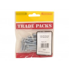 "1 1/2"" x 10 Pozi Pan Head ZP Self Tapping Screws (Pack of 20)"