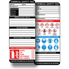 Chemical Safety Tag Inserts (Pack of 10)