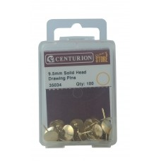 9.5mm Solid Head Drawing Pin 100pk