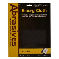 5 Assorted Emery Cloth Pack