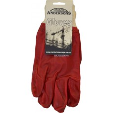 Red PVC Knit Wrist Gloves X-Large