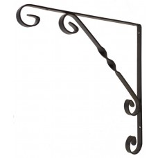 "Scroll Bracket - Black Wrought Iron - 250mm (10"")"