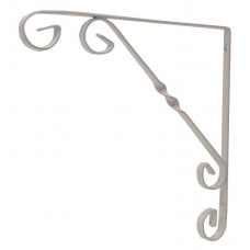 "250mm (10"") White Wrought Iron Scroll Bracket"