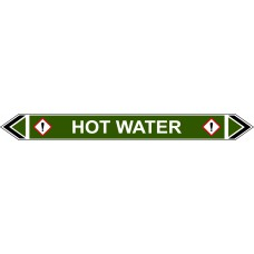 Flow Marker - Hot Water (Green - 5 pack)