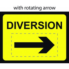 1050 x 750mm Temporary Sign - Diversion with reversible arrow