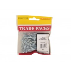 "1"" x 6 ZP Pozi Twinthread C/Sunk Woodscrews Trade Packs (pack of 150)"