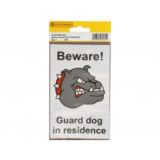 89mm x 150mm Home Safe Pack 'Beware Guard Dog...' (Pack of 2)