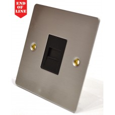 Satin Chrome Flat Plate Master Phone Socket