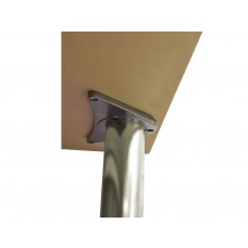 870 x 60mm Brushed Nickel Worktop Supports