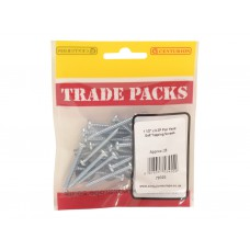 "1 1/2"" x 8 Pozi Pan Head ZP Self Tapping Screws (Pack of 25)"