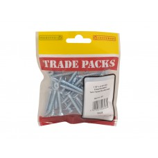 "1 1/2"" x 10 ZP Pozi Twinthread C/Sunk Woodscrews Trade Packs (pack of 50)"