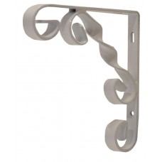 "100mm (4"") White Wrought Iron Scroll Bracket"