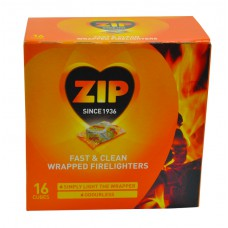 Zip 'Energy' Wrapped Firelighters 16 Pack (DGN)Please note new pack size