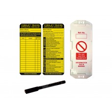 Forklift Tag Kit (10 AssetTag MAX  holders, 10 inserts, 1 pen)