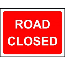 1050 x 750mm Temporary Sign - Road Closed