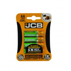 JCB - Rechargeable Batteries - 1200 mAh AA x 4