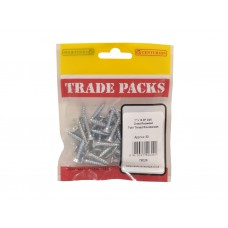 "1"" x 10 ZP Pozi Twinthread C/Sunk Woodscrews Trade Packs (pack of 50)"