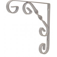 "150mm (6"") White Wrought Iron Scroll Bracket"
