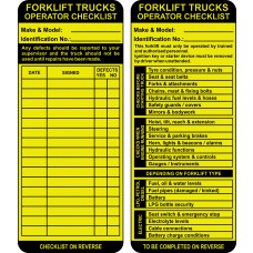 Forklift Tag Kit (10 AssetTag Max holders, 10 inserts, 1 pen) Boxed