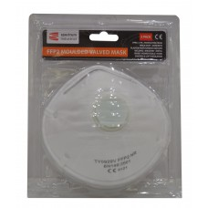* TEMP OUT OF STOCK * FFP2 Moulded Valve Dust Mask 3pk