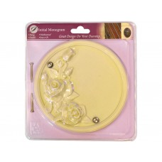 Cream Effect Rose Plaque