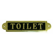 """7 1/4 x 2"""" Brass Toilet Sign - Loose"""