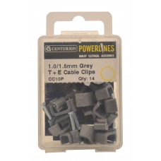 1.00/1.5mm T+E Grey Cable Clips (Pack of 14)