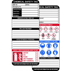 Chemical Safety Tag Kit (10 ClawTag holders, 10 inserts, 1 pen) Boxed