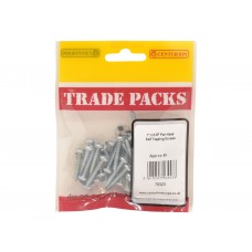"1"" x 8 ZP Pan Head Self Tapping Screws  (Pack of 40)"