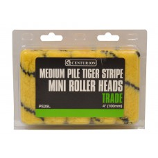 """100mm (4"""") Medium Pile Tiger Striped Mini Roller Heads **Please note quantity is Indiv Roller Heads"""
