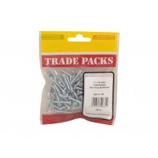 "1"" x 7 ZP Pozi Twinthread C/Sunk Woodscrews Trade Packs (pack of 100)"
