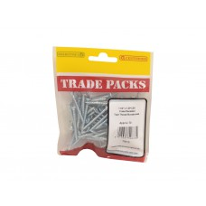 "1 1/2"" x 7 ZP Pozi Twinthread C/Sunk Woodscrews Trade Packs (pack of 70)"