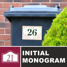 House Name & Numbers (Initial Monogram)