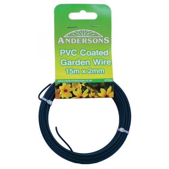 15m x 2mm PVC Coated Garden Wire