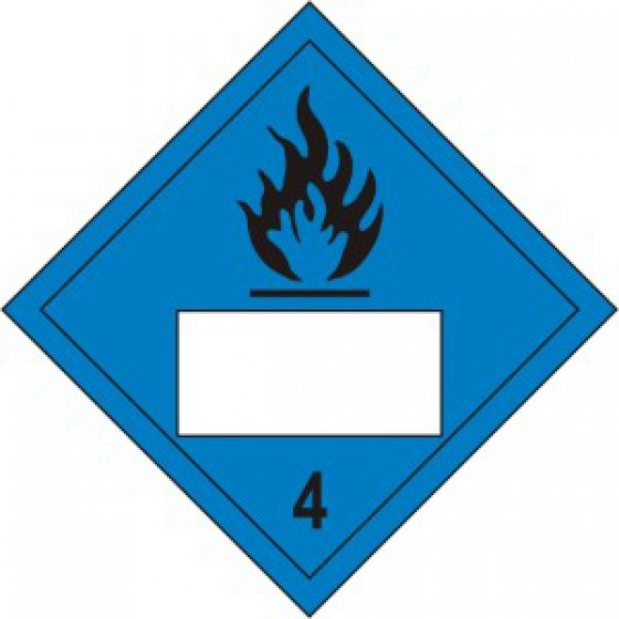 Flammable 4 Symbol Blue - SAV Placard (250 x 250mm)