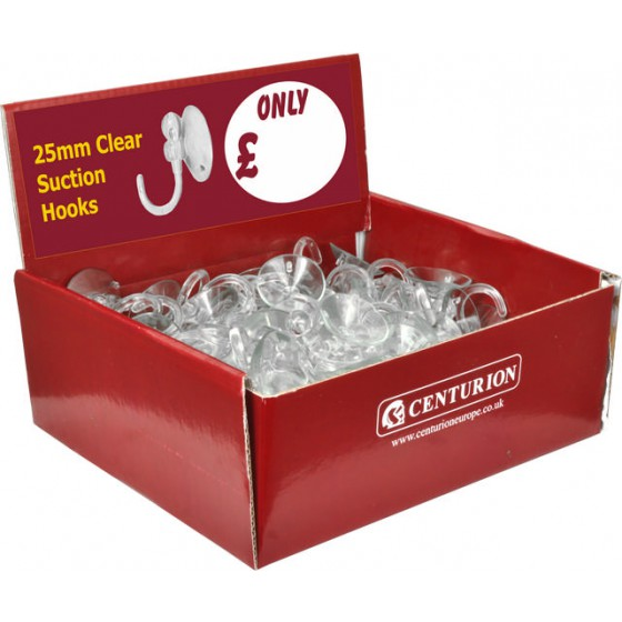 25mm Suction Hook Display Box Pk 100