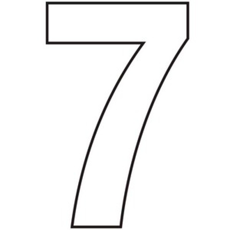 White Vinyl Numbers And Letters