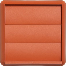 Gravity Flap Wall Outlet - Terracotta - 100mm