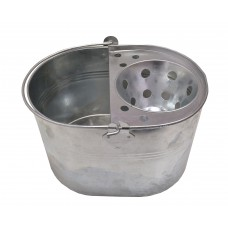 Bucket - Mop and Wringer - Galvanised - 12 Litre