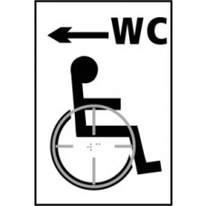 Disabled WC arrow left - Taktyle (150 x 225mm)