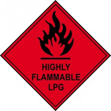 Highly Flammable LPG - Labels (100 x 100mm Roll of 250)