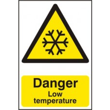Danger Low temperature - PVC (200 x 300mm)