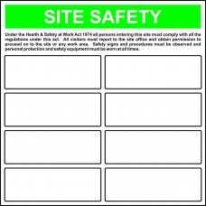 'Build your own' Site Safety Template - RPVC (650 x 650mm)