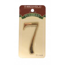 """2 1/2"""" Gold Effect Pullman Numeral 7"""