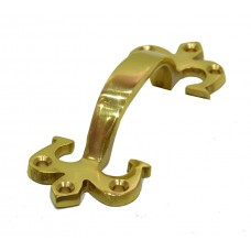 "100mm (4"") PB Solid Brass Fleur De Lys Handle"